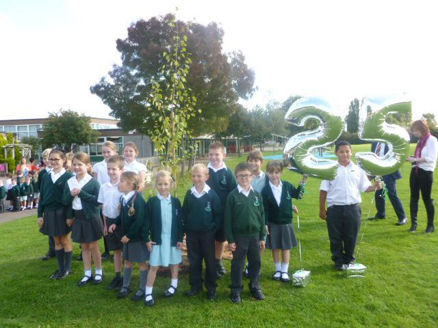 Planting a tree to celebrate.