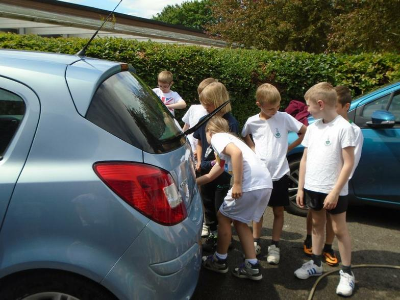 Learning how to wash cars