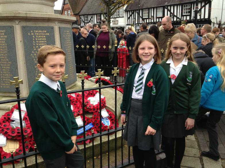 Our wreath laid