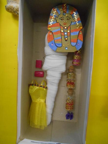 Canopic jars and belongings.