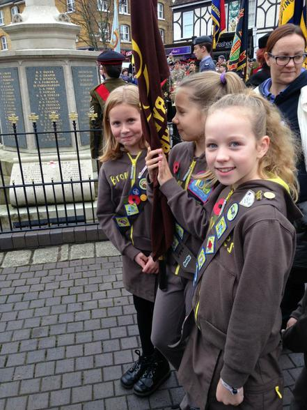 Cranbourne Brownies on parade