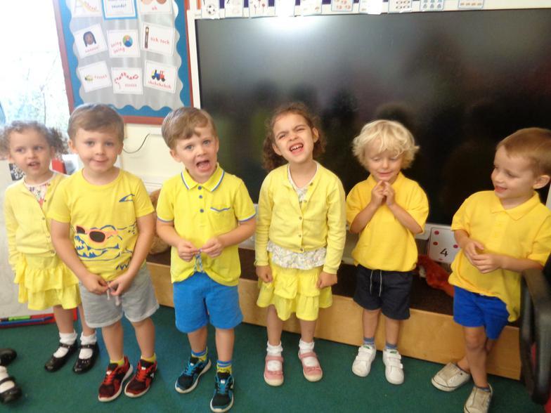 Nursery enjoyed wearing Dahl's favourite colour
