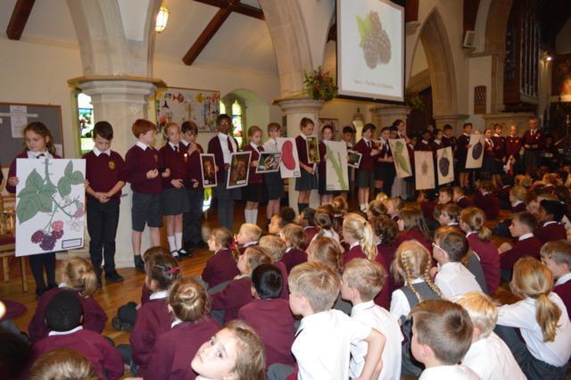 School Harvest Festival visit to church