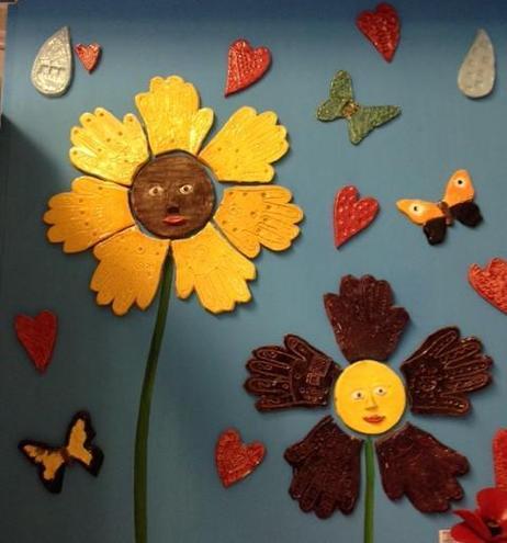 Children's ceramic artwork