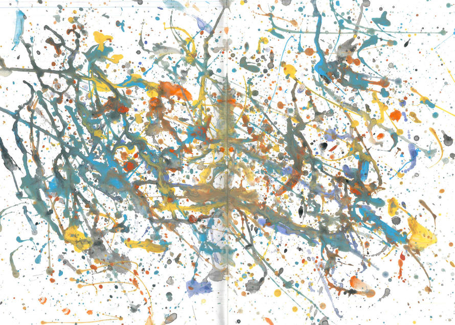 Artwork by a Year 5 pupil - inspiration from Jackson Pollock