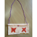 A purse made during Viking Day - January 2020