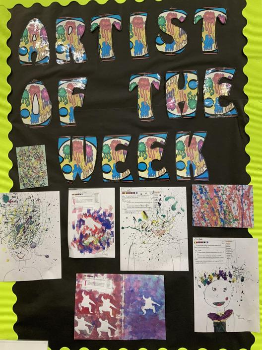 We created artwork in the style of artists like Banksy and Jackson Pollock!
