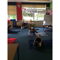 We have been practising our yoga every day!
