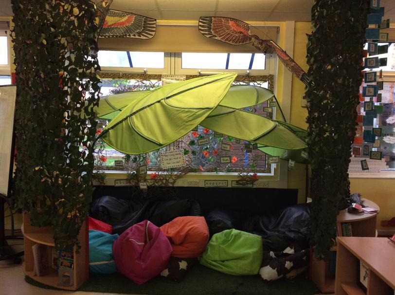 Our rainforest book corner