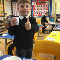 Thumbs up for a tasty smoothie!