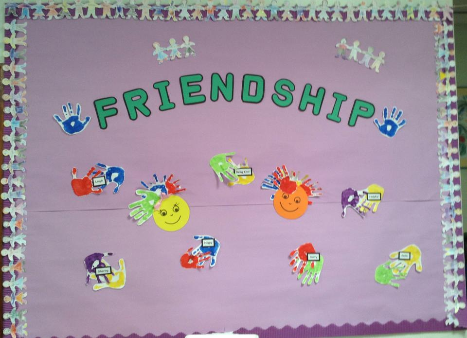 Year 1's friendship board