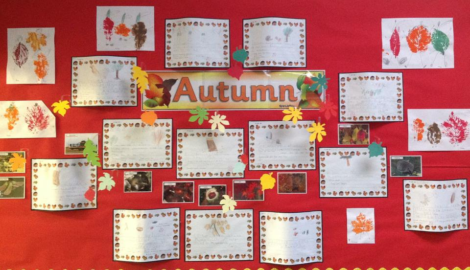 Yellow class have written about Autumn