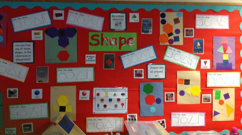 Triangle class are learning about shapes