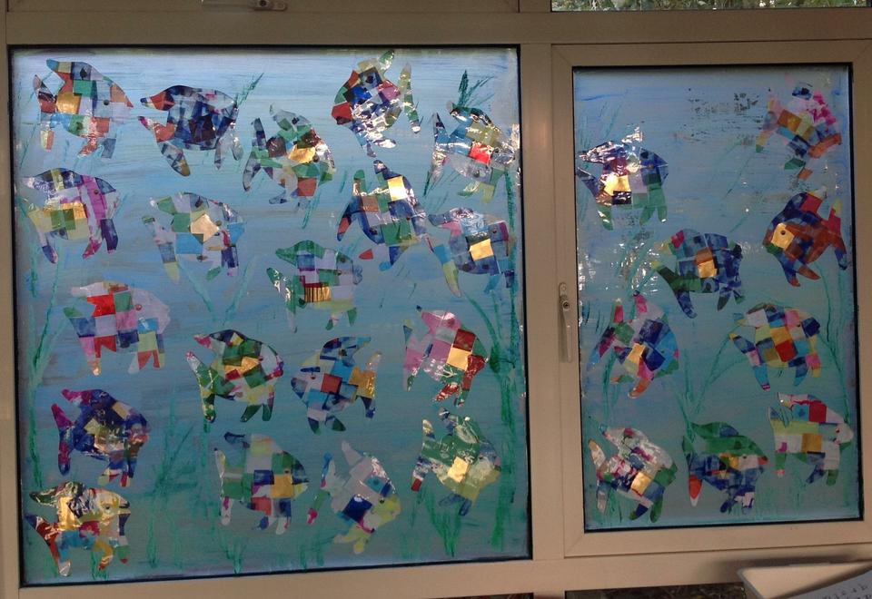 Red class created this sea scene