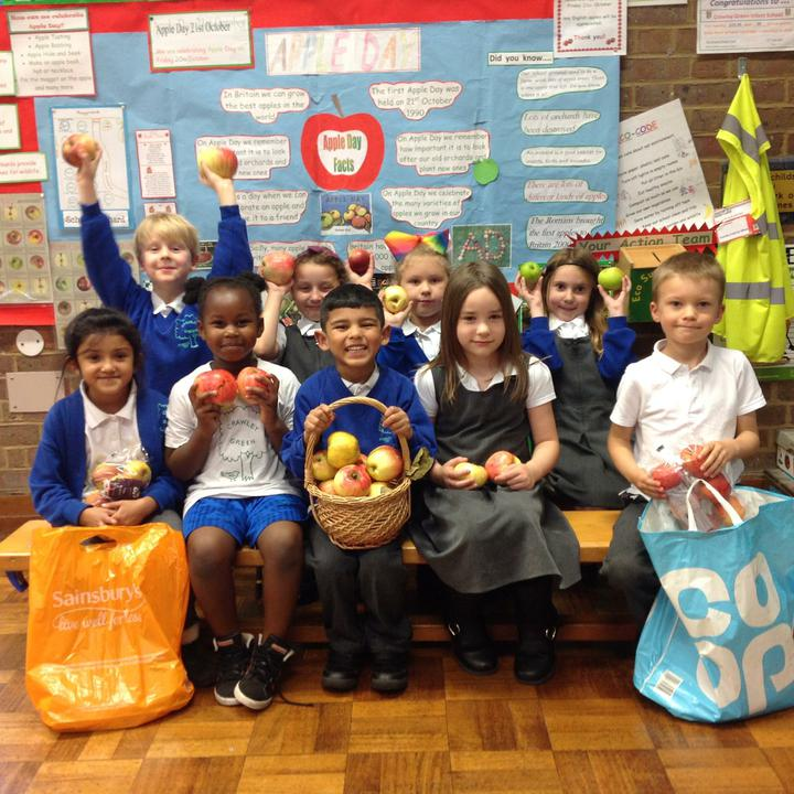 The Eco team are getting ready for Apple Day