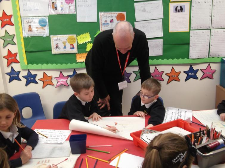 Author week - Mike Brownlow popped in!