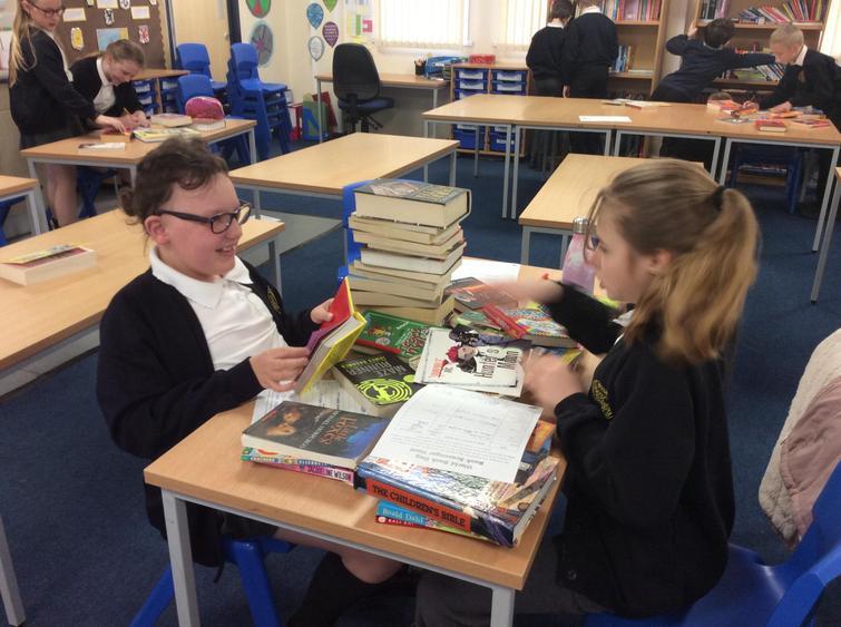 Enjoying books in the classroom