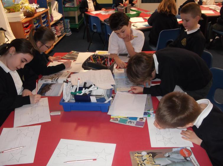 We also drew treasure maps.
