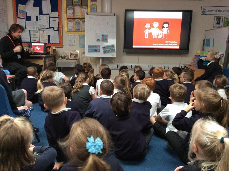 We learnt all about fire safety in the home.