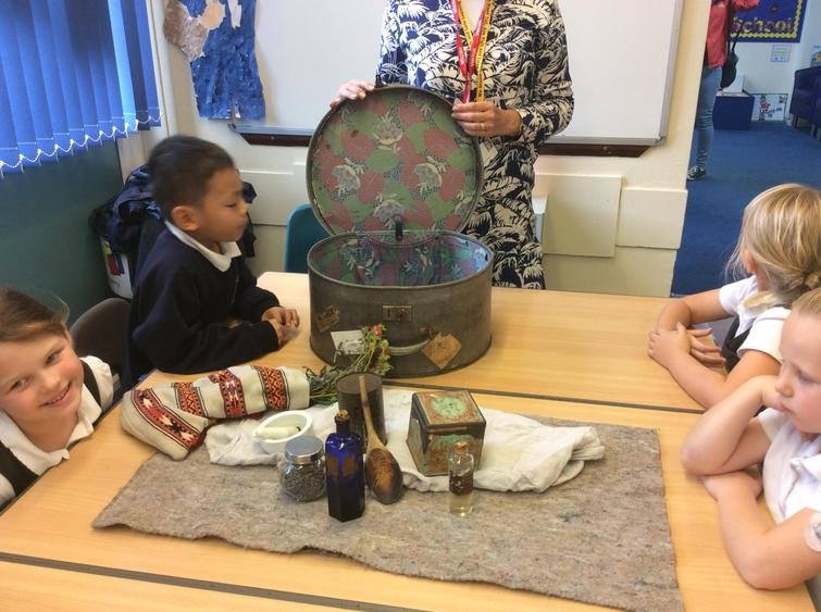 We enjoyed learning about different artefacts.