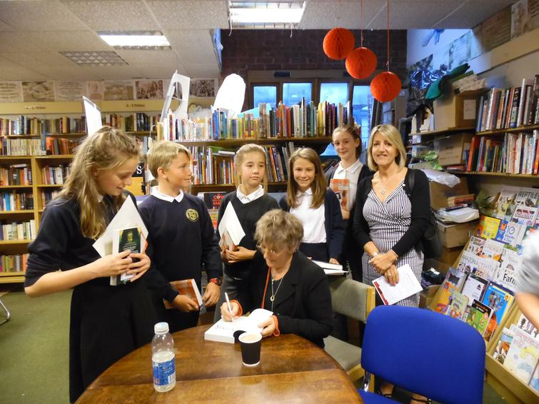 Book signing by Angie Sage at the Awards Evening.