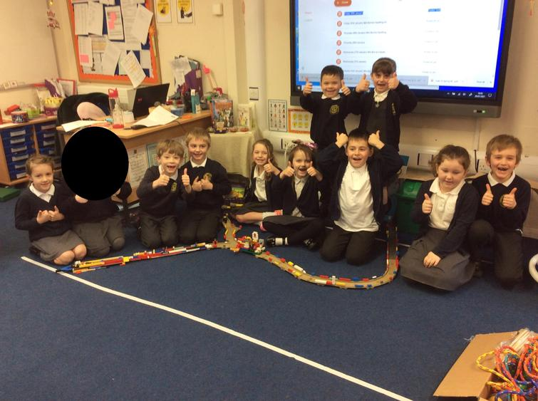 We had to work togethera to create The Great Wall of China. We worked well as a team.