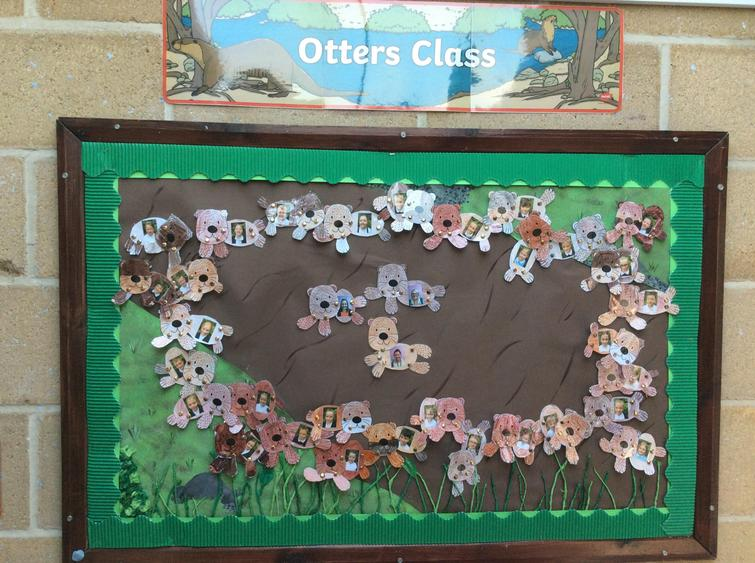 The children all made their own otter for our class display board.