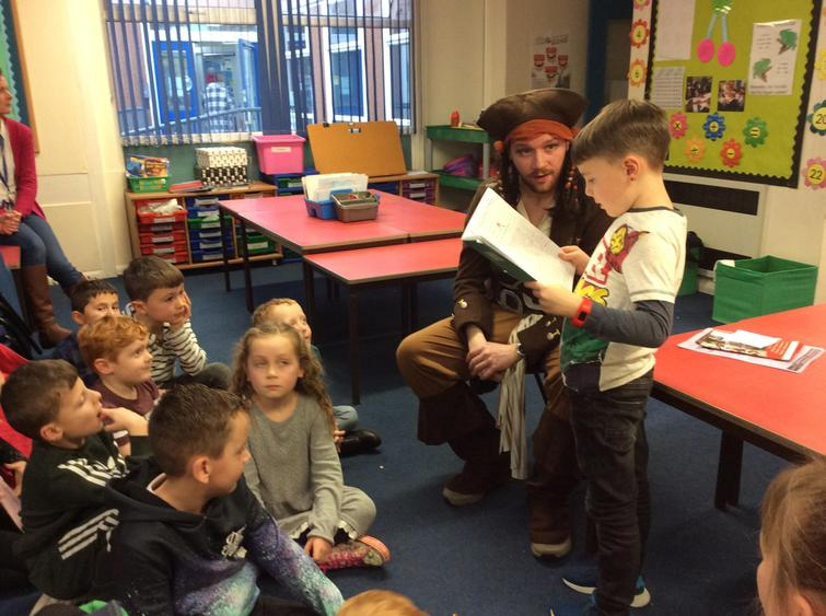 We enjoyed reading our pirate stories.