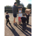 Maths - ordering boxes to make a rocket