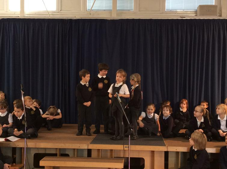 Rehearsing for our Nativity - 'Baubles'