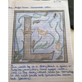 Layla's illuminated Anglo Saxon letter