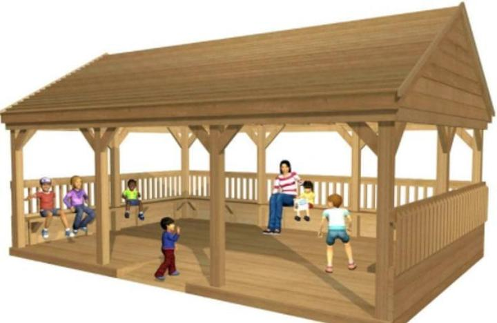 The PSA are currently fundraising for an outdoor classroom structure similar to this.
