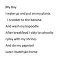 Fantastic nonsense poem OR!