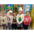 P.2 girls are looking forward to Santa coming.