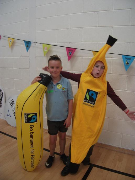 We dressed up as Fair Trade bananas