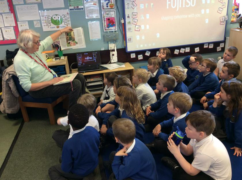 Bonnie's Grandma visited us for story.