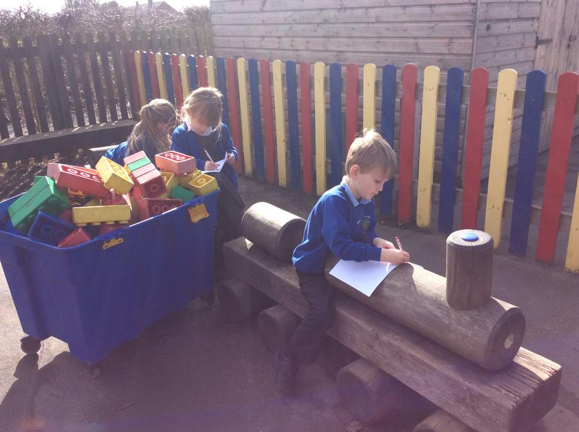 Enjoying working outside in the sunshine!