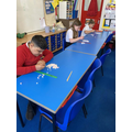 We had a 'chopstick race', this was the final.