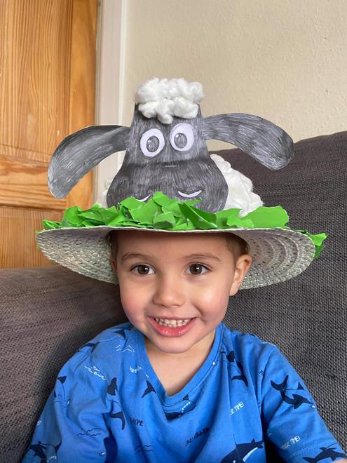 Double smiles, lovely Easter sheep - winner of an Easter egg