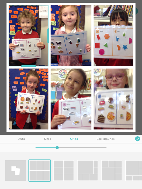We have been sorting items into 'whole' and 'Halves'