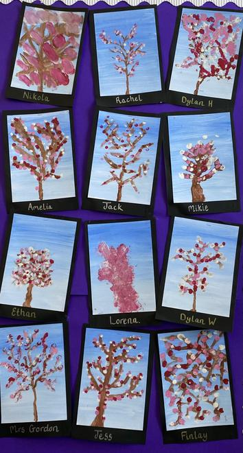 Our cherry blossom paintings