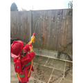 Matilda aiming at her tricky words!