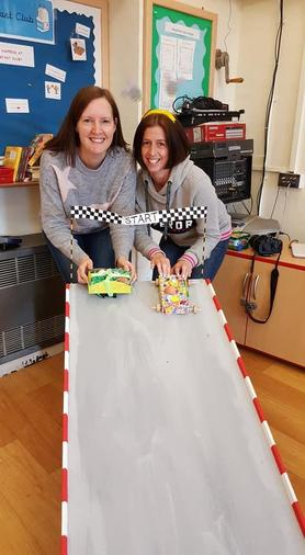 Our new egg mobile race ramp - thanks Phil!