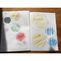 Chloe's drawing of the solar system!
