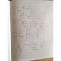 Jack's tricky words spellings!