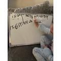 Honey writing numbers 11-20!