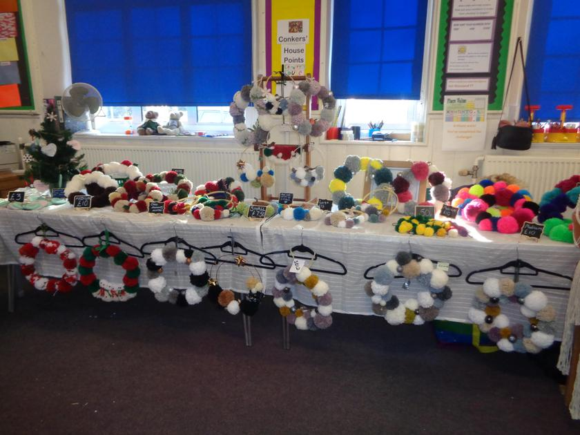 Craft Stall at the Christmas fair