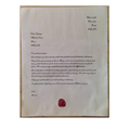 Jake's letter complete with wax seal!