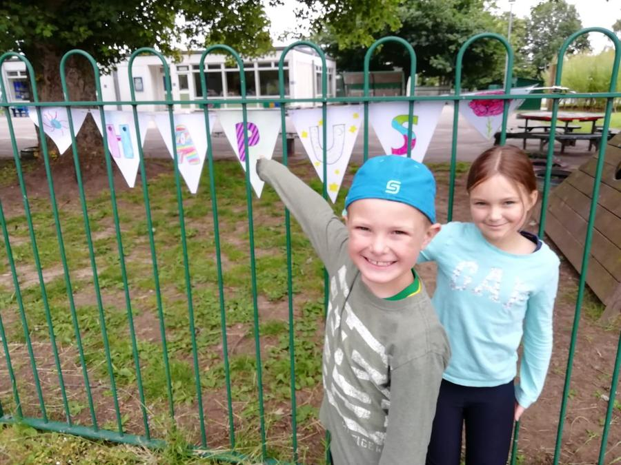 Hub children created bunting