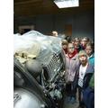 Admiring a Hawker Hunter engine